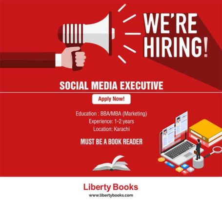 HIRING.Social Media Executive Required For Liberty Books.Apply Now