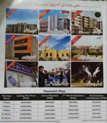 5/7/10 Marla plots in New Lahore City.3 years instalment plan