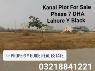 DHA Phase 7 Lahore Plot For Sale Y Block 610 Main 150 Feet Road Ki Back