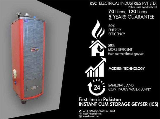 1st Time in Pakistan.KSC Instant Cum Storage Geysers