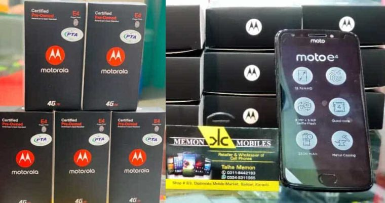 Box Pack Moto E4 Finger Print with Warranty