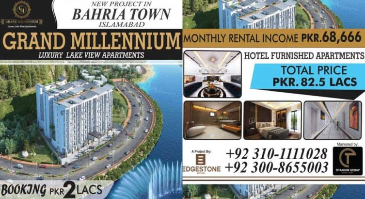 Grand Millennium Lake View Apartments.Bahria Town Islamabad