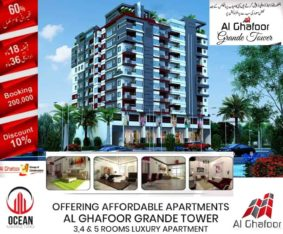 Luxury Apartment in Gulshan e Maymar. Al Ghafoor Grande Tower