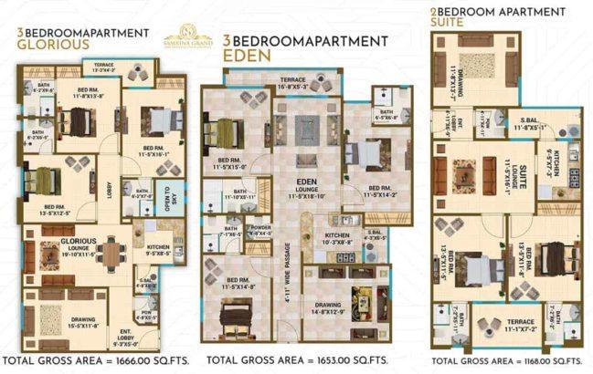 Samrina Grand.4/5 Rooms Luxury Apartment & Showrooms
