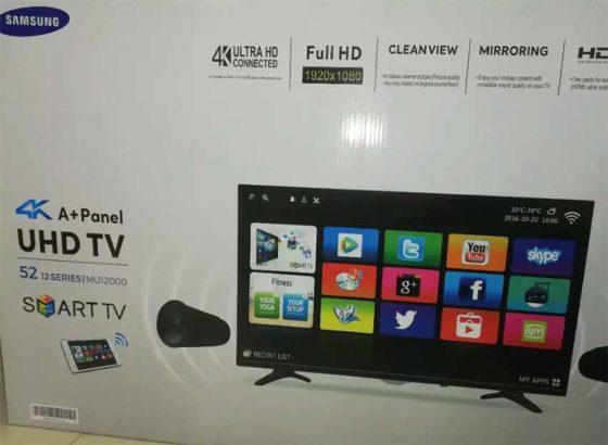 52″Samsung 4k Uhd Smart tv WiFi LED with warranty
