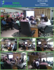 Envi Tech AL, performed Training of GOTS and GRS Standards at United Towel Expor