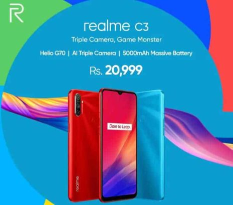 Realme C2 1 Year Warranty Box Packed