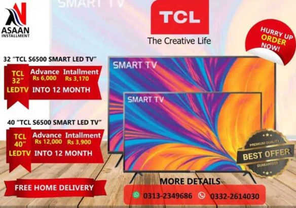 TCL Smart LED On Easy Installment.Asaan iqsaat