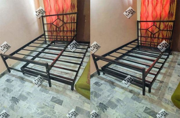 High quality Single Bed with Sliding Trundle Bed