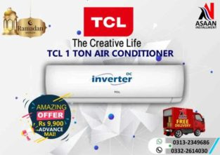 TCL 1 Ton Air Conditioner.Asaan (iqsaat) installment
