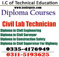 Civil Engineering Diploma Course in Lahore Okara