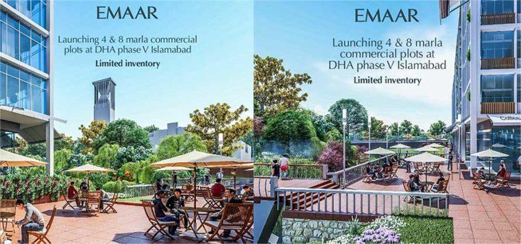 EMAAR.4/8 Marla Commercial Plots.DHA Islamabad Phase 5