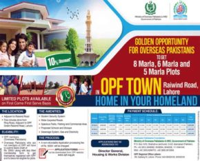 Golden Chance Overseas Pakistanis.Plots in OPF Town