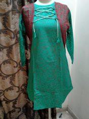 Stitched laen kurtis