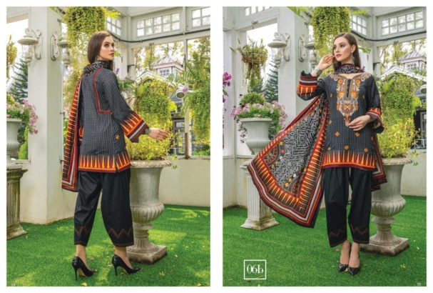 3 pcs printed pure lawn (unstitched)