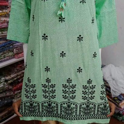 Stitched 3 pcs suit.Cotton Lawn Shirt