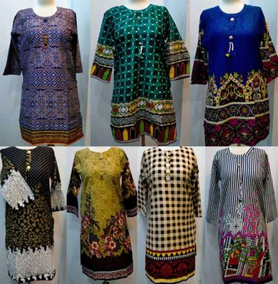 Ladies stitched lawn shirts in Cheap Price