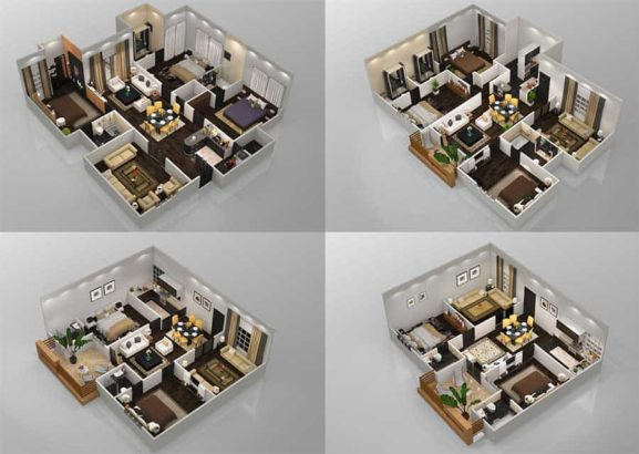 Roomi Residency.2 & 3 Bedrooms High Class Apartments