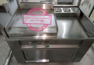 Burger Station with hot plate