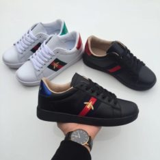 Pack Of 2 Gucci Unisex Sports Shoe -Black and White