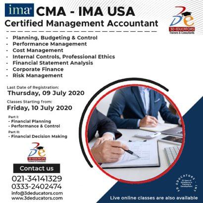 CMA – IMA USA Certified Management Accountant Program With USA Certification