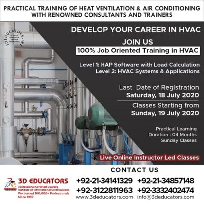 Heat Ventilation & Air Conditioning Training ( HVAC ) Live Online Classes