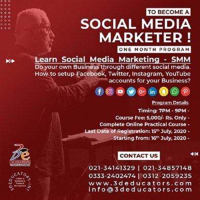 To Become A Social Media Marketer – 3D Educators