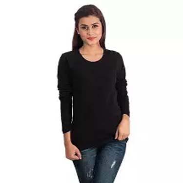 Black Fleece Full Sleeves Tshirt For Women Ep_1197