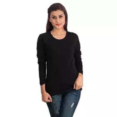 Black Fleece Full Sleeves Tshirt For Women Ep_1197