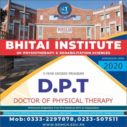 Bhitai Institute of Physiotherapy & Rehabilitation Sciences, Mirpurkhas