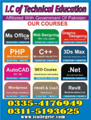 DIT IT Diploma in Information Technology Course in Sahiwal Mianwali