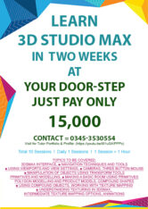 Learn 3ds Max and graphics, Interior and kitchen architecture services