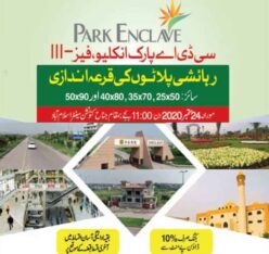CDA Park Enclave Phase III Islamabad.Residential Plots Balloting