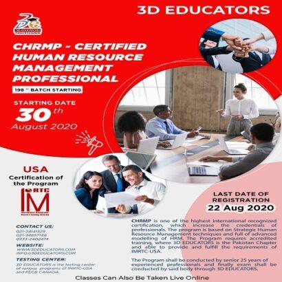 CHRMP – Certified Human Resource Management Professional Training