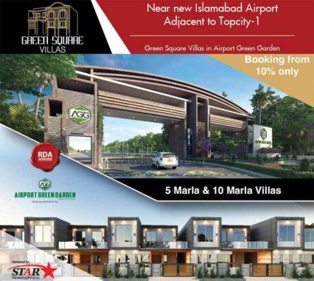 Green Square Villas Islamabad.5 & 10 Marla Luxury Villas