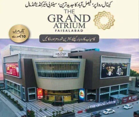 The Grand Atrium Faisalabad.Apartments Shops and Showrooms