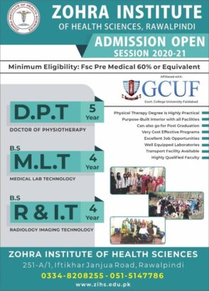 Admissions Open Apply.( DPT), (MLT), (RIT)