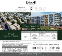 Emaar DHA Islamabad.Meridian II Residential & Commercial Plots