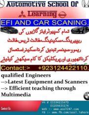 Auto Efi course in Lahore, Islamabad , Faislabad