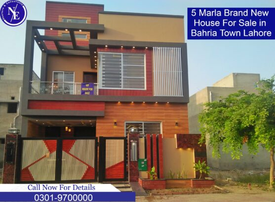 5 Marla Brand New Luxury House For Sale in Bahria Town Lahore