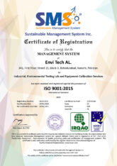 Envi Tech Al Successfully Qualifies Received Certificate of ISO 9001:2015