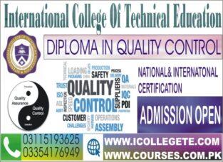 Diploma in Quality Control QC/QA Course in Bagh Muzaffarabad