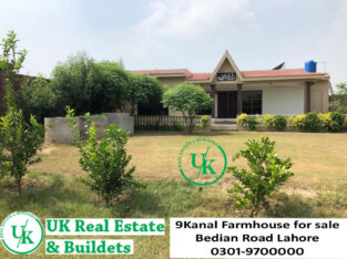 9 Kanal Farmhouse for sale Bedian Road