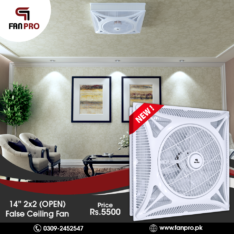 FANPRO Top Quality Energy Saving 14″ 2×2 (OPEN) False Ceiling Fan