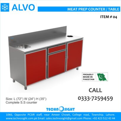 ALVO Meat Cutting Table for Meat Shops in Pakistan, Meat Shops Equipment