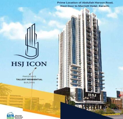 Pakistan's Tallest Residential Building.HSJ ICON 4/5/6 Rooms Apartments