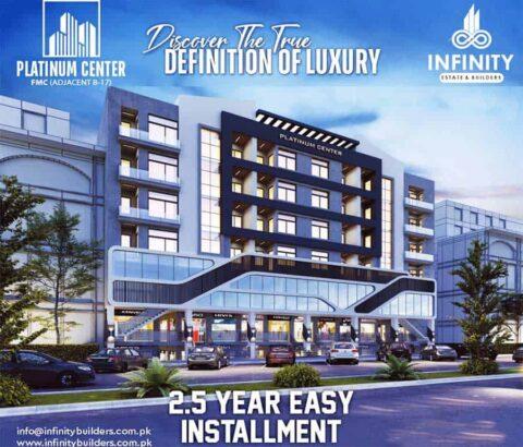 Platinum Center Fasial Margalla City.Exquisite Apartments & Shops