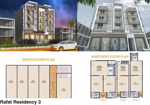 Rafat Residency.Residential Apartment & Commercial Shop
