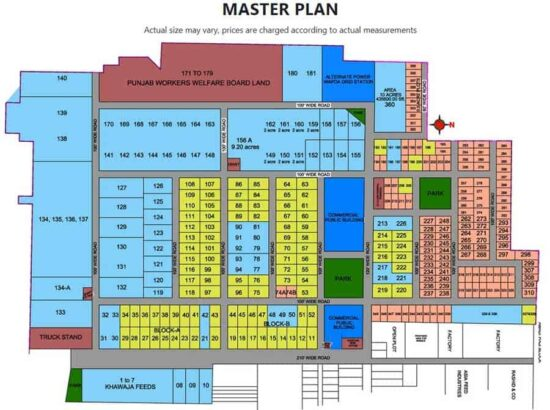 Commercial-Plots-For-Sale.Multan-Industrial-Estate-MIE-master-plan