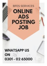 Ads posting online job at home.students can apply